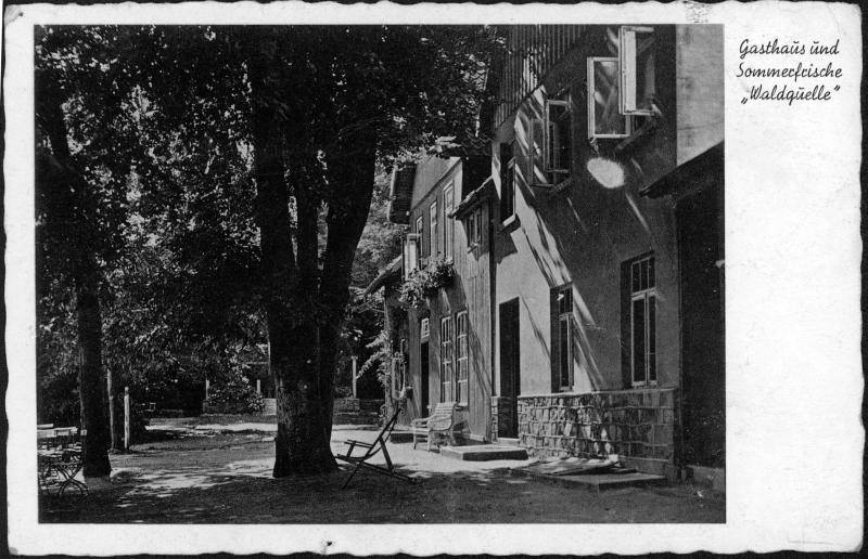 Waldquelle um 1940