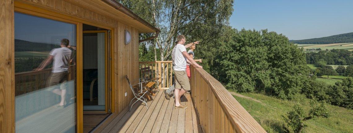 Baumhaus Ahornhoehe Ausblick