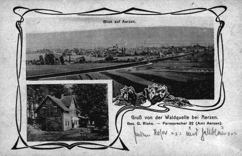 Waldquelle um 1900